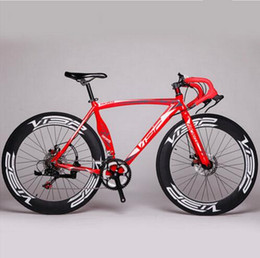Alloy Suspension Australia - New brand Road Bike Aluminum alloy frame double disc brake 14 speed Outdoor bicycle cycling Sports racing Bicycle
