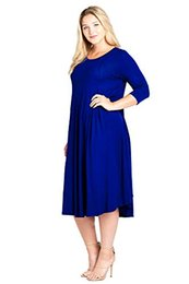 $enCountryForm.capitalKeyWord UK - Modern Kiwi Women's Plus Size Long Sleeve Flowy Maxi Dress (1X-4X)
