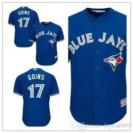 6250ed3f7 Custom 2019 Men s Blue Jays 17 Ryan Goins Toronto Royal Official Cool Base  Player women kids Jersey