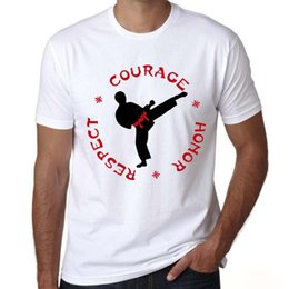 $enCountryForm.capitalKeyWord Australia - Courage t shirt Kickboxing honor short sleeve tops Taekwondo respect fadeless tees Unisex white colorfast clothing Pure color modal tshirt