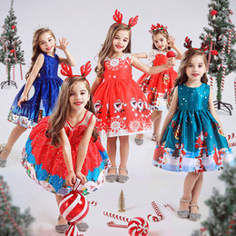 pattern for girls princess dress Australia - Baby Girl Clothes Kids Dresses for Girls Christmas Clothing Santa Claus Princess Dress New Year Party Children Cosplay Costume