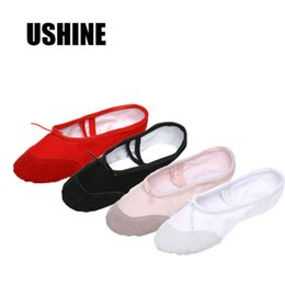 pink canvas shoes for women NZ - USHINE Yoga Gym flat slippers White Pink White Black Canvas Ballet Dance Shoes For Girls Children Women Teacher
