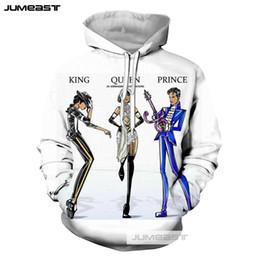 sports king 2019 - Jumeast Brand New 3D Printed Hoodies Famous Singer King Prince Queen Long Pants Vests Women Men Sweatshirts Sport Zipper
