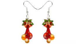 Jewelry teens online shopping - Acrylic Christmas Ornaments Gift Earrings Drop Dangle Fashion Decoration Jewelry For Women Girls Teens Navidad Charms New