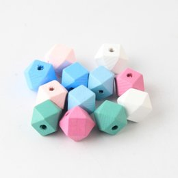 Jewelry & Accessories 10pcs 20mm Gold And Silver Wooden Cube Unfinished Geometric Beads For Jewelry Making Necklace Diy Teething Jewelry Bead