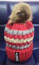 Beanies Hats For Kids Australia - Winter Beanie Kids Knit Beanies Slouchy Hats For Girls Cute Boys Knitted Skullies Warm Hats Lovely Children Baggy Knit Caps