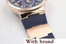 Suisse Watches NZ - watch Hot seller Hot Sale UN Auto watch Blue Dial Gold Case Suisse Rubber Band Glass Back 40mm Mechanical watch