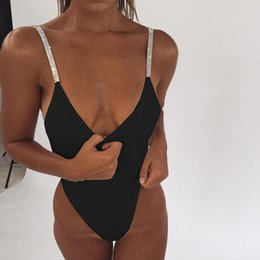 $enCountryForm.capitalKeyWord Australia - Women Diamond Spaghetti Strap Romper Bodysuits Celebrity Runway Clubwear Party Bodysuit Drop Shipping Beachwear Sexy Bodysuits Y190424