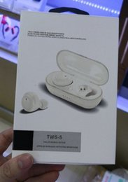 Wholesale BOS TWS Wireless Bluetooth Earbuds Stereo Handfree Sports Bluetooth Earphone With Charging Box For iphone Android Smart Phones Headphones