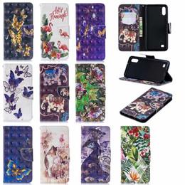 3d Cases Sony Xperia Australia - 3D Leather Wallet Case For Samsung Galaxy A50 A10 Sony Xperia 10 XA3 Elephant Butterfly Owl Slot Flip Panda Flower Flamingo Unicorn Pouch