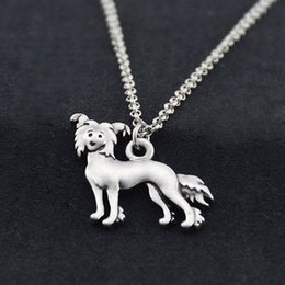 $enCountryForm.capitalKeyWord Australia - Antique Chinese Crested Charm Pendant Stainless Steel Necklace Men Boho Mini Dog Necklaces For Women Jewelry Bijoux Femme Party Gift