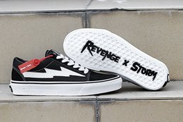 Canvas Shoes Skateboard Australia - Wholesale 2018 NEW Revenge x Storm Sneakers Pop up Store Top Quality Old SKool Off Fashion Grid Mens Skateboard Vulcanized Ins Canvas Shoes