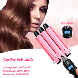 ceramic iron perm UK - 3 Barrels Hair Curling Iron Automatic Perm Splint Ceramic Curler Hair Waver Curlers Rollers Styling Tools Hair Styler Wand