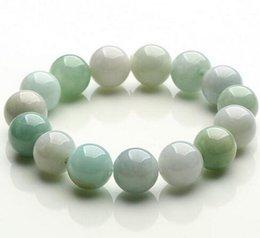 $enCountryForm.capitalKeyWord Australia - Natural Myanmar pulsera de Jade verde 13 MM cuentas de moda temperamento gemas joyería accesorios regalos venta al por mayor brazalete de