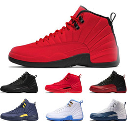 bdc3b176099eef New 12s basketball shoe Winterized WNTR Gym Red Michigan Bordeaux 12 white  black The Master Flu Game taxi sports sneaker trainers size 7-13