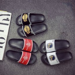 $enCountryForm.capitalKeyWord NZ - New Designer Team Print Men Summer Rubber Sandals Beach Slide Fashion Scuffs Slippers Indoor Shoes Size EUR 39-44 with 3 Colors