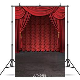 $enCountryForm.capitalKeyWord Australia - red curtain stage Vinyl portrait photography background for child baby shower portrait backdrop photo studio photocall