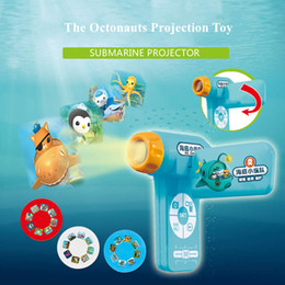 Venta al por mayor de Los Octonauts Proyección juguete LED proyector de imagen de la cámara Juguetes para niños linterna Fairy Tale mejores regalos para los niños