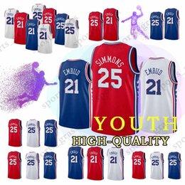 cf28b69e7 Quality polyester t shirts online shopping - YOUTH Philadelphia Ben Simmons  ers Joel Embiid Jerseys t
