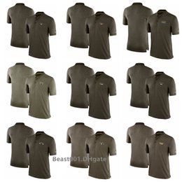 Patriot Shirts Australia - Men Falcons Bears Lions Rams Patriots Raiders Titans Redskins Salute to Service Side line Performance Polo Shirt
