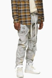 Chinese  19SS Fear Of God 6th FOG JIUJITSU PANT FOG Drawstring Straps,denim Jean Rousers Elastic Band High Quality Mens Pants HFWPKZ097 manufacturers
