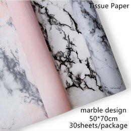 Craft Packs Australia - Marble Design 300sheets package 50*70cm Tissue Paper Flower Clothing Shoes Gift Packing Craft Wrapping Paper
