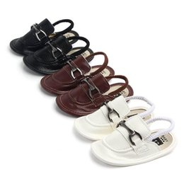 infant toddler slippers NZ - baby boy shoes baby shoes pu leather toddler shoes Moccasins Soft First Walker Shoe Newborn Sandals Infant Sandals baby boys Slippers