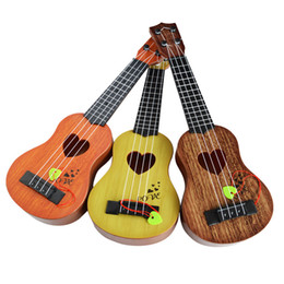 Toy String Instruments Australia - Children's Trumpet Musical Instrument Simulation Ukulele Mini Four-string Can Play Enlightenment Early Education Music Toy Guitar Gag Toys