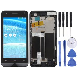 asus zenfone c Canada - LCD Screen and Digitizer Full Assembly with Frame for Asus Zenfone C ZC451CG