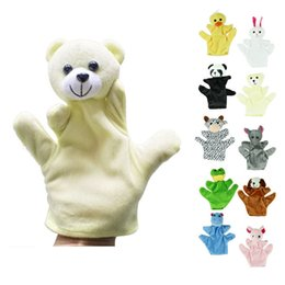 $enCountryForm.capitalKeyWord Australia - Fingerpuppen Dino Marionnette Bebe Sock Hand Glove Puppet Baby Child Zoo Farm Animal Hand Glove Puppet Finger Sack Plush Toy