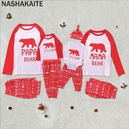 Discount mother baby daughter clothes - NASHAKAITE Mother Daughter Father Son Baby Matching Outfits Clothing Sets Christmas Bear Print matching Pajamas Set Fami