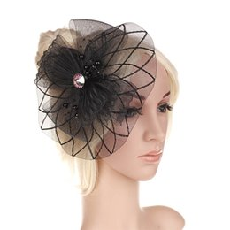 9694099c 2016 Retail Wedding Holiday Fascinator Cocktail Hat For Women French  Veiling Hair Headband Vintage Fashion Lady Party Accessory