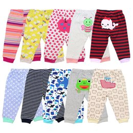 bohemian style pants NZ - Baby Pants Cartoon Print Cotton Baby Leggings trousers Toddler Boy girl Pants Newborn Infant Clothing 5Pcs lot Random style Free shipping