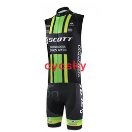 skinsuit xs 2019 - scott 2019 Men sleeveless Bicycle Cycling Jersey Skinsuit Summer Outdoor Breathable Mountain Road Bicycle jersey Suits U