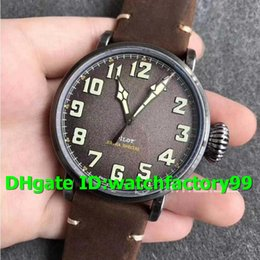 Watch 45mm Australia - XF Top Luxury Watch 45mm Miyota 9015 Automatic Sapphire Crystal Stainless steel Case Gray Dial Brown Asso Leather Strap Mens Watch