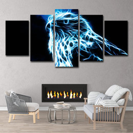 eagle decor UK - HD Printed Eagle 5 Pieces Group Painting Room Decor Print Poster Picture On Canvas Free Shipping