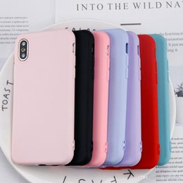 Iphone Silicone Case Dhl Australia - 200PCS Lot Soft TPU Matte silicon case For iphone X 6 6s 7 8 Plus Original cover Anti-Knock Silicone cases shockproof Protective Shell DHL