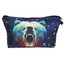 Bag Prints NZ - Bear Cosmetic Bags 3D Printed Organizer Women Makeup New Fashion Cosmetic Pocket For Travel Female Pouch Tote