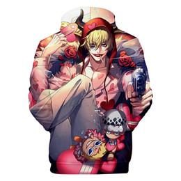 Cartoon Hoodies Men Australia - ONE PIECE Cartoon 3D Hoodies Men Women Hooded Casual Loose Luffy Printed Sweatshirts