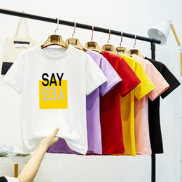 Wholesale colored collar shirt for sale – custom Hundred Up Printing Xia Collar Short Sleeve Female T T shirt Jacket Lovers