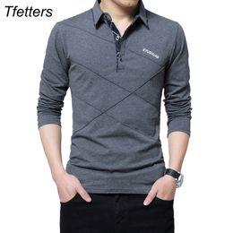 $enCountryForm.capitalKeyWord Australia - Tfetters Brand T Shirt Men Long T-shirt Turn-down Stripe Designer T-shirt Slim Fit Loose Casual Cotton T Shirt Male Plus Size J190610