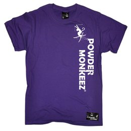 More Powder Australia - Powder Monkeez Vertical T-SHIRT Skiing Ski Clothing Present birthday funny gift Summer Short Sleeves Cotton Unisex More Size And Colors