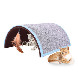 $enCountryForm.capitalKeyWord UK - Carpet Arch Cat Scratch Board Cat Toy Pet Tunnel Pet Cat Toy Catstube Fun For Rabbits Kittensand Dogs New Dropshipping