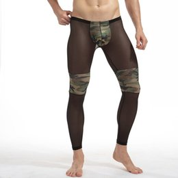 $enCountryForm.capitalKeyWord Australia - Running Leggings Men's Sexy Transparent Camouflage Yoga Pants Men Tights Breathable Bodybuilding Sheer Mesh Skinny Legging