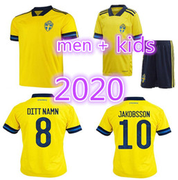 team soccer uniforms kit NZ - Men +Kids kits 2020 2021 Sweden soccer jersey home yellow 20 21 sverige FORSBERG LINDELOF BERG IBRAHIMOVIC team football uniforms shirts
