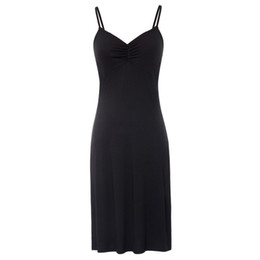 $enCountryForm.capitalKeyWord Australia - Womens Full Silk Slips With Bra Sexy V-neck Fitness Silk Petticoat 100% Silk Slips Dress Female MX190725