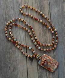 Necklaces Pendants Australia - Bohemia Necklaces Natural Stones Crystal With Semi Precious Pendant Necklace Unique Boho Women Nepal Charm Necklace Y19050802