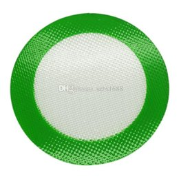 $enCountryForm.capitalKeyWord Australia - Quality FDA food grade reusable non stick concentrate bho wax slick oil round heat resistant fibreglass silicone dab pad mat