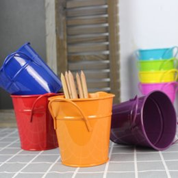 Wholesale Mini Flower Pot Metal Plant Flowerpot Wall Vertical Haning Bucket Iron Flower Holder Basket