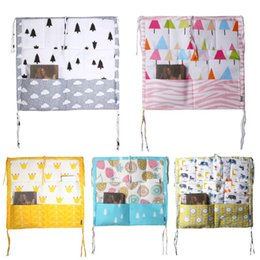 Cot Toys For Babies Australia - 60*50cm Hanging Storage Bag Muslin Tree Bed Baby Cot Bed Baby Cotton Crib Organizer Toy Diaper Pocket for Crib Bedding Set